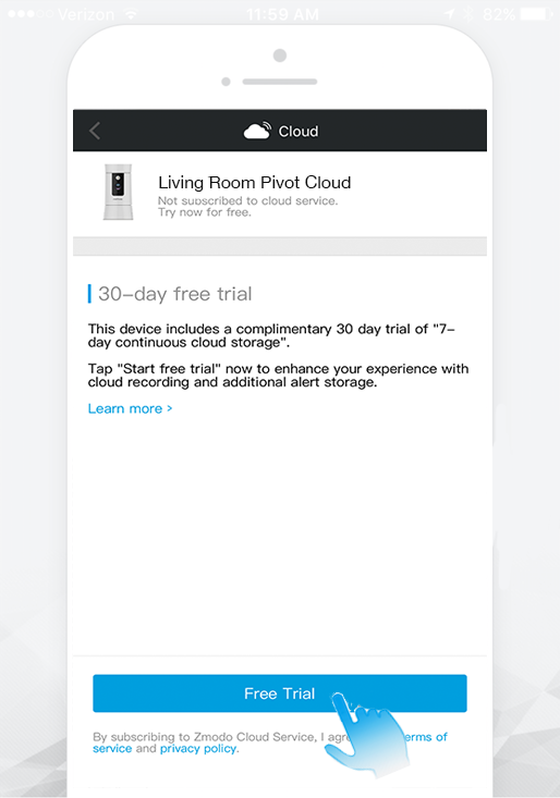 Zmodo Support - [FAQ]How do I sign up for the cloud service?